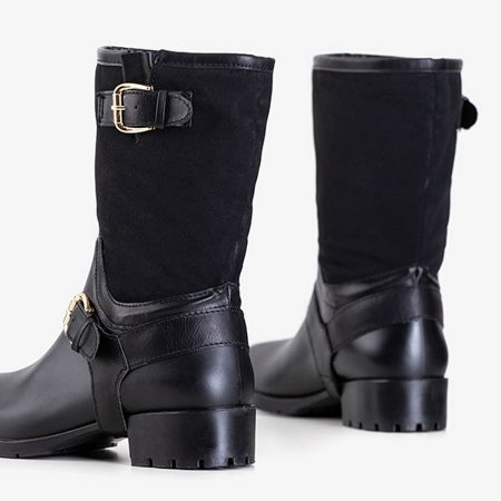 ВИХІД Чорні жіночі черевики а-ля калоші Graca - Взуття