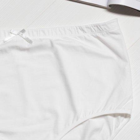 Жіночі бавовняні трусики в кольорі екрю PLUS SIZE - Нижня білизна