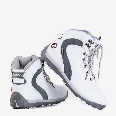 Жіночі білі утеплені черевики Alfreda - Взуття