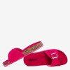 Жіночі шльопанці Фуксія з пряжкою Ловінка - Взуття 1