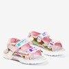 Світло-рожеві дитячі босоніжки Frida - Взуття 1