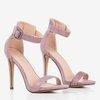 Фіолетові босоніжки на високому каблуці Suella - Взуття 1