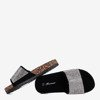 Чорні дитячі шльопанці з кубічним цирконієм Procopia - Взуття 1