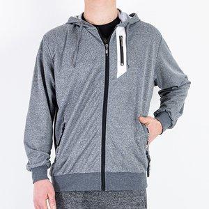 Сірий чоловічий світшот - Одяг